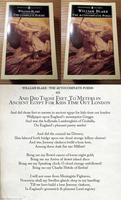 William Blake : The Autocomplete Poems