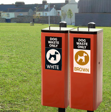 1980s Dog Waste Bins