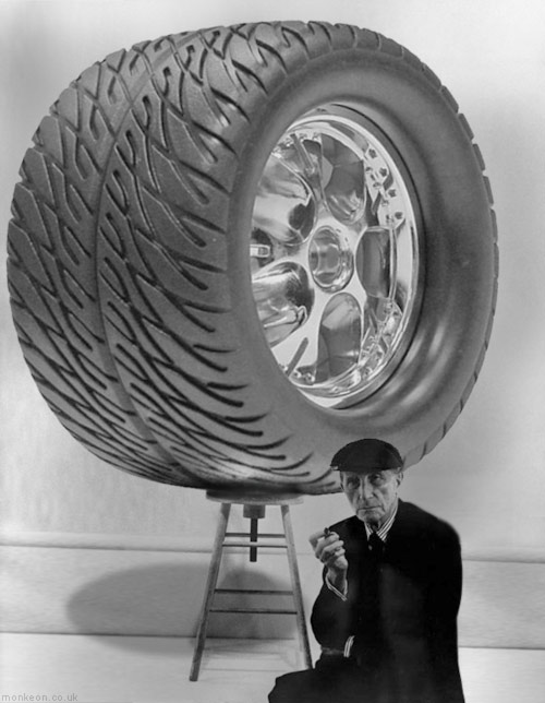 Duchamp's Monster Truck Wheel