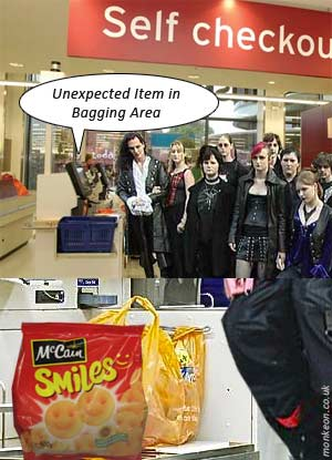Goths at the supermarket