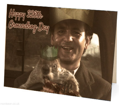 Groundhog Day Christmas Card