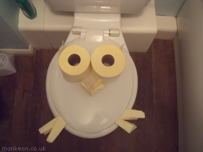 Portrait Of My Toilet As A Young Owl